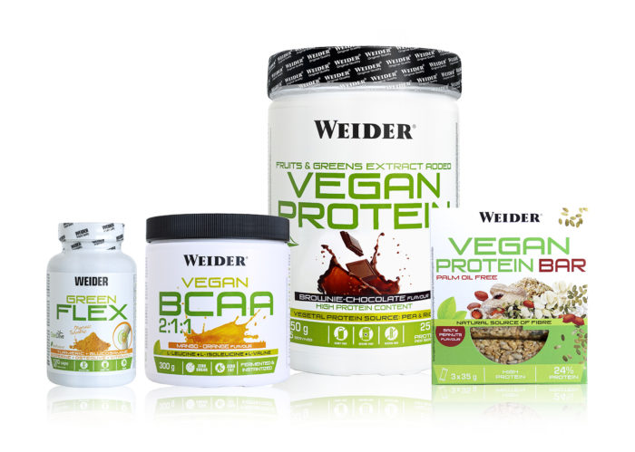 productos veganos para deportistas de Weider